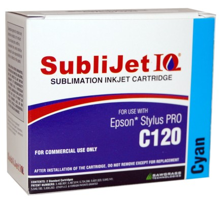 Sublijet Sublimation Ink Cyan Two Cartridge Pack Fits Epson C120
