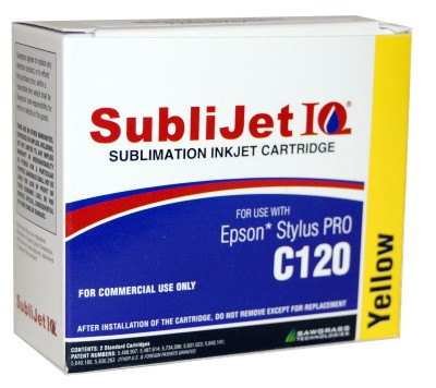 Sublijet Sublimation Ink Yellow Two Cartridge Pack Fits Epson C120