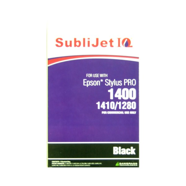 Sublijet Sublimation Ink Black Refill Bag Fits Epson 1280 / 1400