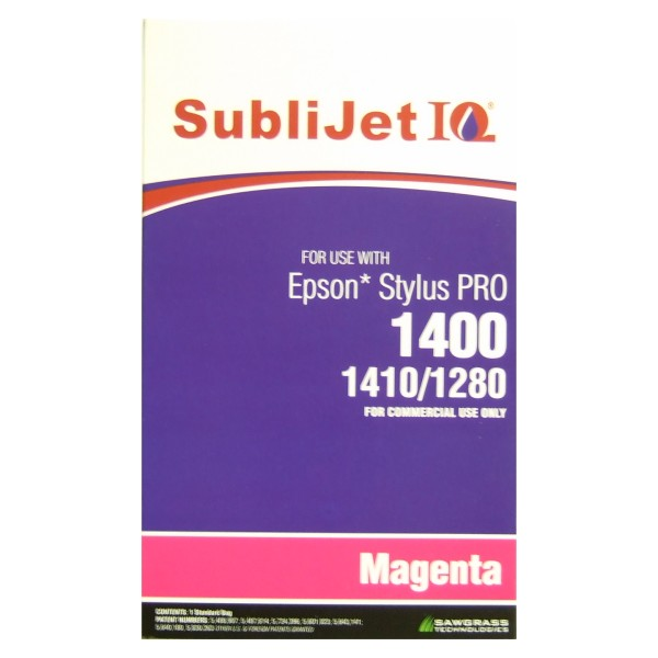 Sublijet Sublimation Ink Magenta Refill Bag Fits Epson 1280 / 1400