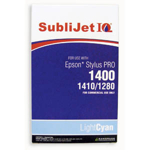 Sublijet Sublimation Ink Light Cyan Refill Bag Fits Epson 1280 / 1400
