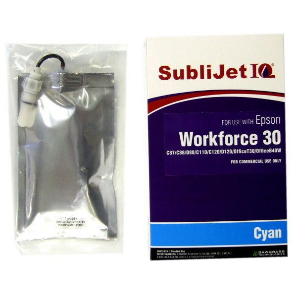 Sublijet Sublimation Ink Cyan Refill Bag Epson C84 C86 C88 C120 WF30 WF1100_MAIN