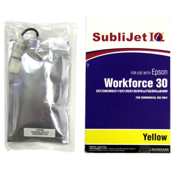 Sublijet Sublimation Ink Yellow Refill Bag Fits Epson C84 C86 C88 C120 WF30 WF1100 MAIN