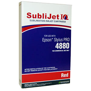 Sublijet Sublimation Ink Red (position 8) Standard Cartridge Fits Epson 4880