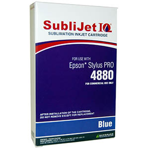 Sublijet Sublimation Ink Blue (position 5) Standard Cartridge Fits Epson 4880 MAIN