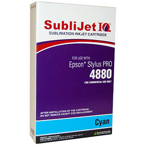 Sublijet Sublimation Ink Cyan (position 2) Standard Cartridge Fits Epson 4880