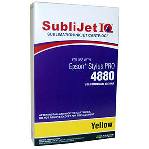 Sublijet Sublimation Ink Yellow (position 4) Standard Cartridge Fits Epson 4880 MAIN
