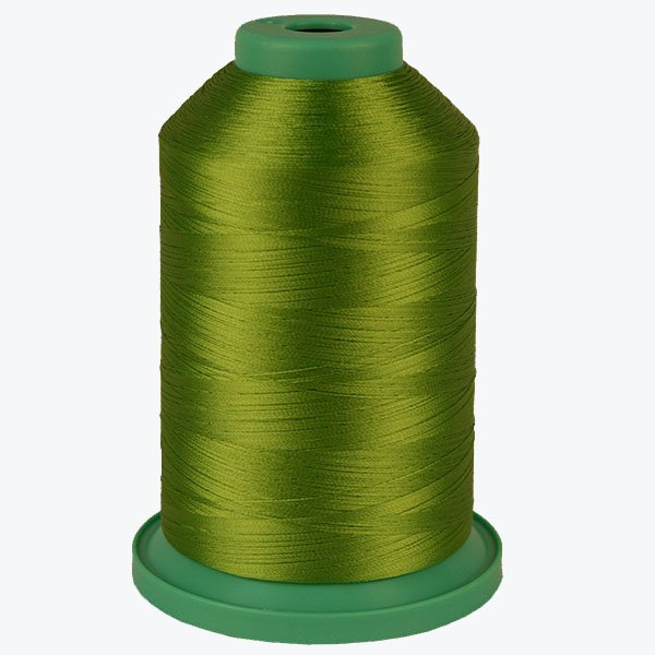 China Green # 3550 Rayon Machine Embroidery Thread 5500 Yard King Cone
