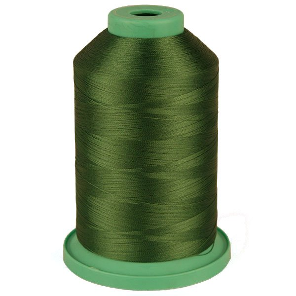 Deep Green # 3777 Rayon Machine Embroidery Thread 5500 Yard King Cone
