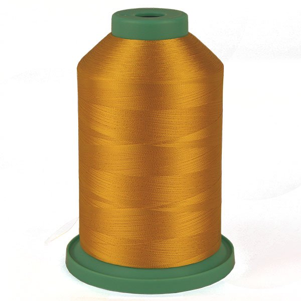 China Yellow # 3810 Rayon Machine Embroidery Thread 5500 Yard King Cone