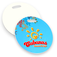 "Circle Luggage / Bag Tag 4"" Round - Sublimation Blank"