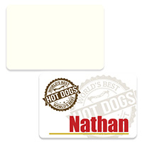 "FRP Name Tag Badge 2"" x 3"" - Sublimation Blank"