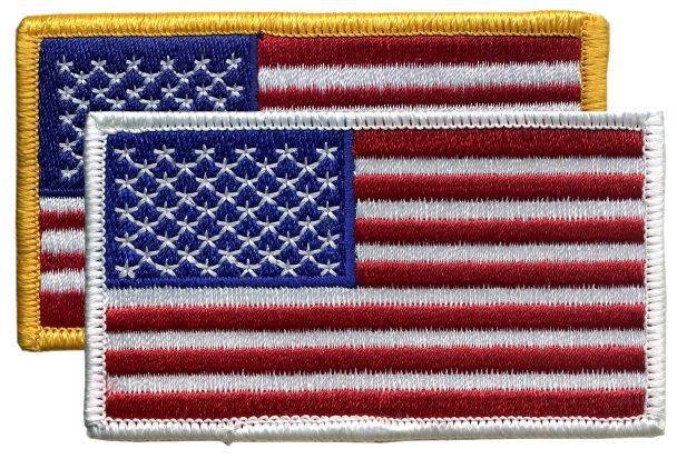 Embroidered American Flag Patches or Emblems