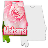 Sublimation Metal Alabama State Ornament MAIN