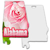 Sublimation Metal Alabama State Ornament