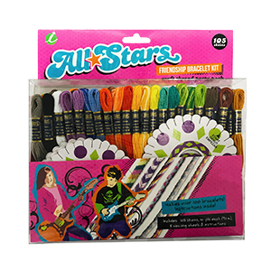 All Stars Craft Thread Friendship Bracelet & Craft Kit by Iris MAIN