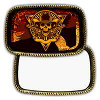 Rectangle Brass Belt Buckle with Sublimatable Insert - Sublimation Blanks