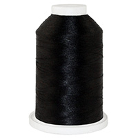 Black # 1152 Iris Trilobal Polyester Machine Embroidery & Quilting Thread - 5500 Yds
