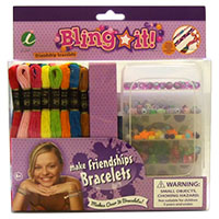 Bling It Bead & Embroidery Floss Friendship Bracelet & Craft Kit by Iris MAIN
