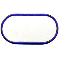 Standard Color Blank Patches - 2 Inch by 4.5 Inch Blunt Oval