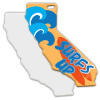 Sublimation Metal California State Ornament