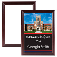 "8"" x 10"" Plaque with Cherry Edge - Sublimation Blank MAIN"