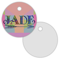 2 Sided Metal Circle Pet ID Tag - Sublimation Blanks