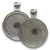 Nickel Plated Round Pendant with Sublimation Metal Insert Mini-Thumbnail