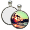 Nickel Plated Round Pendant with Sublimation Metal Insert THUMBNAIL