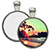 Nickel Plated Round Pendant with Sublimation Metal Insert SWATCH