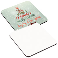 Square Hardboard Coaster - Sublimation Blank