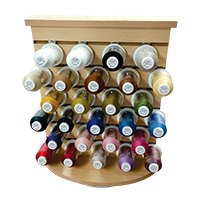 Ultra Cotton by Iris Rotating Counter Quilt Thread Display with 89 King Cones in the Top 35 Solid Colors MAIN