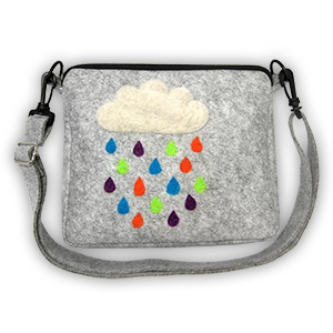 Pretty Twisted Rain Cloud Crossbody Bag Needle Felting DIY Craft Kit