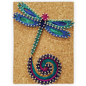 Pretty Twisted Dancing Dragonfly String Art DIY Craft Kit