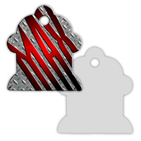 2-Sided Metal Fire Hydrant Pet ID Tag - Sublimation Blanks