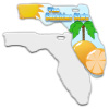 Sublimation Metal Florida State Ornament