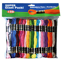 Super Sheen Cotton Embroidery Floss Super Giant Pack by Iris - 150 Skeins