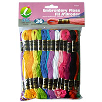 Super Sheen Cotton Pastel Embroidery Floss Pack by Iris - 36 Skeins MAIN