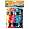 Super Sheen Cotton Variegated Embroidery Floss Pack by Iris - 36 Skeins