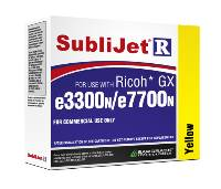 Yellow Sublijet Sublimation Ink Cartridge Fits Ricoh GX e3300N GX e7700N