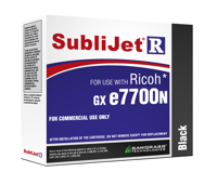 Black Sublijet Sublimation Extended Ink Cartridge Fits Ricoh GX e7700N