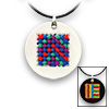 Pretty Twisted Geometric Cross Stitch Pendant DIY Craft Kit