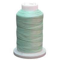 Aqua UltraGlow Glow in the Dark Polyester Embroidery Thread 1100 Yard Cone