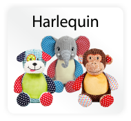 Baby Cubbies Harlequin Collection - Stuffed Animal Embroidery Blanks