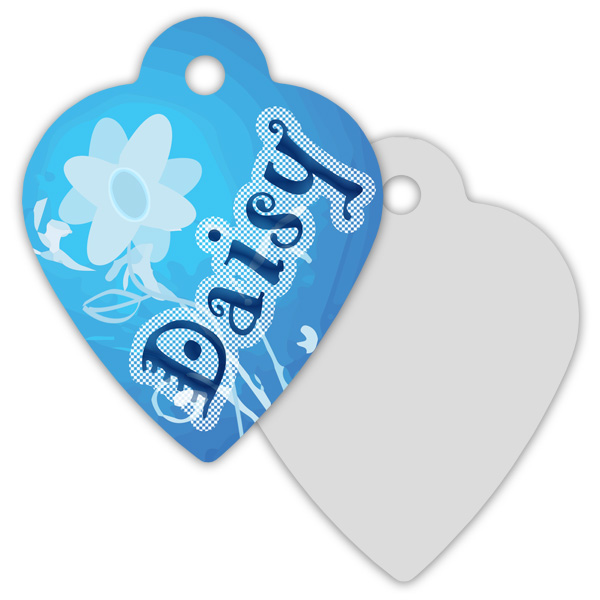 2 Sided Metal Heart Pet Id Tag Sublimation Blanks