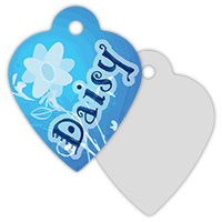 2-Sided Metal Heart Pet ID Tag - Sublimation Blanks