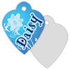Sublimation Metal Pet ID Tag 2-Sided Heart THUMBNAIL