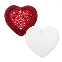 "3"" Heart Ceramic Ornament - Sublimation Blank MAIN"