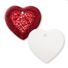 "Sublimation Ceramic Ornament 3"" Heart (2-Sided)"