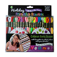 Holiday Embroidery Floss Friendship Bracelet & Craft Kit by Iris